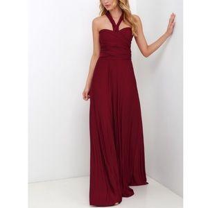 Lulus • Burgundy Always Stunning Convertible Dress